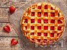 Рецепта Лесен пай със сладко от ягоди и ром